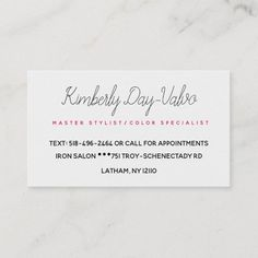 watercolor red hairstylist hair stylist splatter business card | Zazzle.com