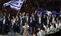 Greece entering the 2012 Opening Ceremony