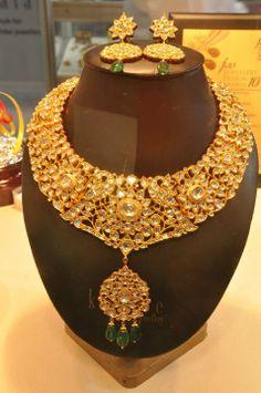 Peacock motif necklace