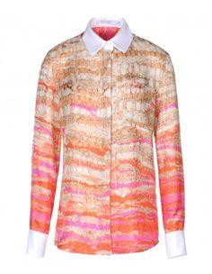 Altuzarra Chika Yarn Printed Silk Shirt - Shop more from the designer's new Fall collection at #ShopBAZAAR: http://shop.harpersbazaar.com/designers/altuzarra/