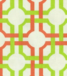 Home Decor Print Fabric- Waverly Groovy Grille Seaglass