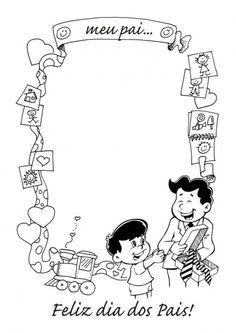 Molde para cartão ou redação do dia dos pais