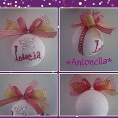 Pallina di Natale creata da me!! Lucia