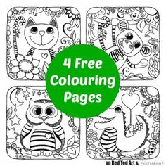 Cute Animal Colouring Pages