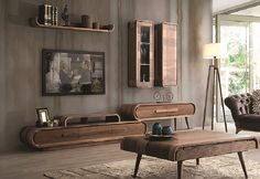 The attractive living room furniture: retro look - Decoration Solutions Living Room Tv, Living Room Modern, Tv Stand And Wall Unit, Wall Units, Muebles Living, Tv Unit Design, Living Room Furniture, Decoration, Interior Design