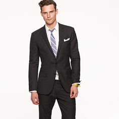 the ludlow - italian wool in graphite - can you do a pock square without a tie? - jcrew.com