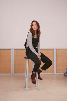 Combi pantalon lubinette foret - combinaison - des petits hauts Dungarees, Corduroy, Normcore, Hipster, Bastille, Inspiration, Fashion, Personal Stylist, Woman