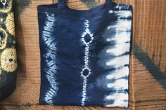 Shibori on cotton tote