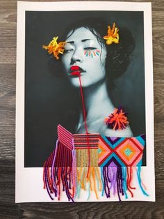 Portrait Embroidery, Paper Embroidery, Collage Illustration, Collage Art, Personal Project Ideas, Art Intervention, Architectural Prints, Art Pictures, Photos