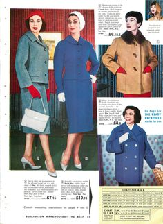 BURLINGTON 1958-59 Autumn Winter Mail Order Catalogue ON DVD PDF JPEG FORMATS | eBay