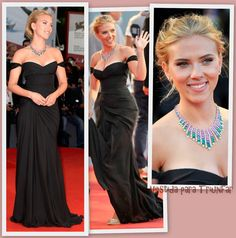 Guapísima Scarlett Johansson en la alfombra roja del Festival de Venecia