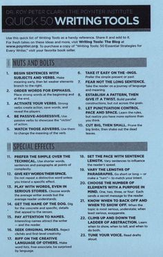 writersyoga:  Quick 50 Writing Tools - Roy Peter Clark