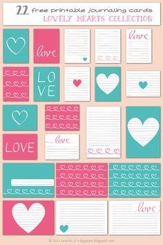 Free Printable Journaling Cards - byjanam.blogspot.com