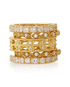 Set Of Five Mixed Marquis & Eternity Stackable Rings by Freida Rothman Belargo at Neiman Marcus Last Call.