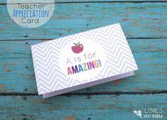 Teacher Appreciation Cards {free printable}