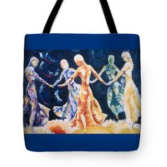 """In Their Midst Tote Bag 18"""" x 18"""""""