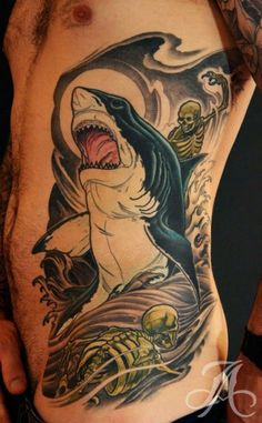 45 Awesome Shark Tattoos for Your Inner Badass