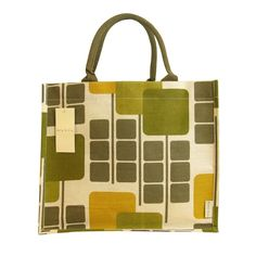 One of a range of jute/cotton shopping bags Orla Kiely has designed for Tesco (available for a fiver a pop - nice!). My other half brought back one in this design for me in July.