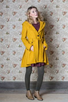 Once Upon a Thyme Coat in Mustard | Mod Retro Vintage Coats | ModCloth.com
