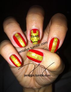 iron man #nail #nails #nailart