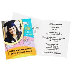Dr. Seuss Oh the Places You'll Go Graduation Personalized Invitations, 77308