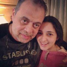 أبنته روجينا مع والدها أشرف ذكى