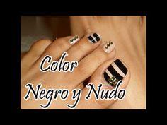 """Decoración con """"Gemas """" para la Uñas de los Pies/Toe nail art with Gems - YouTube"""
