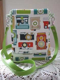 Mini Travel Hipster Passport Bag 3 Pockets Removable Shoulder