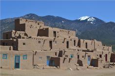 Taos Pueblo and Mountain