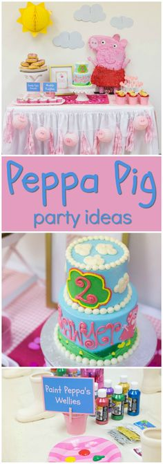 How fun is this Peppa Pig themed birthday party? See more party ideas at… Baby Girl Birthday Cake, Peppa Pig Birthday Cake, Girls 3rd Birthday, 3rd Birthday Parties, Peppa Pig Cakes, Birthday Wishes, Zebra Birthday, Cumple Peppa Pig, Pigs