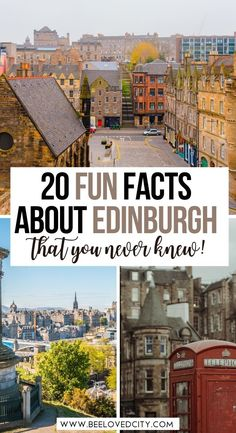 20 fun facts about Edinburgh