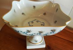 Limoges France Compote 7 Tall 8 Wide Limoges by ShellyisVintage