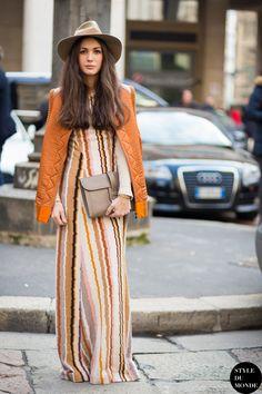 Milan Men's FW15 Street Style: Diletta Bonaiuti - STYLE DU MONDE   Street Style Street Fashion Photos