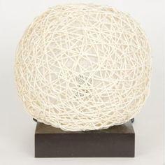 Textured cream lamp