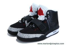 2013 Nike Air Yeezy II Black White Red Men Shoes Online