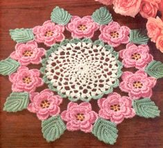 Image detail for -in a rose design with lacy leaves to use as edging on linens clothes ...
