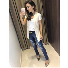 Colete Maria Júlia | Calça Jeans Carmem Compras on line: www.estacaodamodastore.com.br