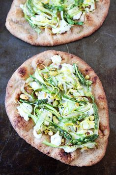 Asparagus, Goat Cheese, and Pistachio Flatbread Recipe on twopeasandtheirpod.com This easy flatbread recipe is great for lunch, dinner, or as a party appetizer!