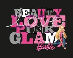 barbie black wall paper