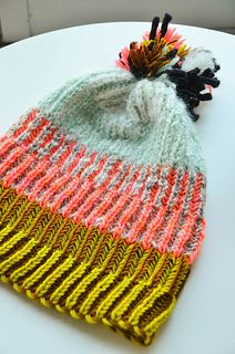 "Stephen West's ""Syncopation Adoration"" free knit hat pattern on Ravelry"