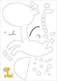 MOLDES DE E.V.A: MOLDE DE ANIMAIS : GIRAFA. Felt Crafts, Diy And Crafts, Scrapbook Patterns, Cute Images, Felt Art, Paper Piecing, Cross Stitch, Symbols, Quilts