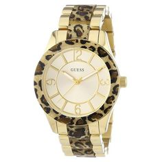 Guess Ladies GODDESS Gold Watch *** For more information, visit image link. Color Dorado, Seiko, Michael Kors Watch, Gold Watch, Rolex Watches, Bracelet Watch, Lady, Stuff To Buy, Accessories