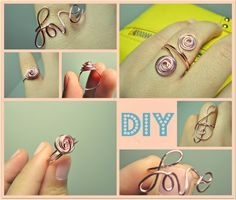 DIY wire rings. Don't mind if I do. Stocking stuffers!