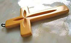 Vintage Bakelite Large Cross Pendant Carved by GemParlor on Etsy