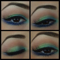 trying this, asap; Peacock color eyeshadows