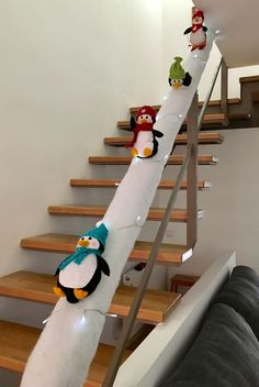 Easy and Fun Christmas Decorations Kids Will Love - Sliding Penguin Staircases . - Christmas - Easy and Fun Christmas Decorations Kids Will Love – Sliding Penguin Staircases – Christmas De - Beautiful Christmas, Simple Christmas, Christmas Holidays, Green Christmas, Christmas Ideas, All Things Christmas, Christmas Humor, Funny Christmas Decorations, Diy Weihnachten