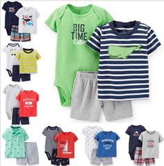 Summer style  Carters boys girls rompers suit 3pcs Baby Clothes set, cotton children clothing drop shipping,CY-069
