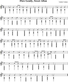 Flow Gently, Sweet Afton Sheet Music for Tin Whistle