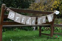 Bride To Be white  Bunting Banner by inspiredcompany4u on Etsy, £9.99