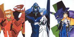 Neon Genesis Evangelion | Asuka Langley Soryu | EVA 02 | Rei Ayanami | EVA 00 | Shinji Ikari | EVA 01
